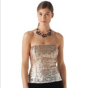 Ombre Mixed Metallic Sequin Bustier Size 4